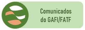 Menu Comunicados do GAFI FATF